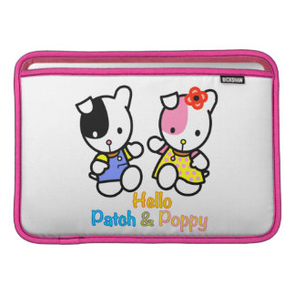 Hello Patch and Poppy MacBook Air Sleeve