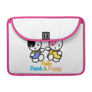 """""""Hello PATCH and POPPY"""". MacBook Pro Sleeve"""
