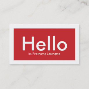 Red networking business cards templates zazzle hello personal networking business cards in red reheart Images