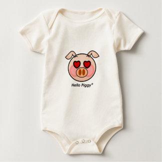 Hello Piggy heart eyes Baby Bodysuit