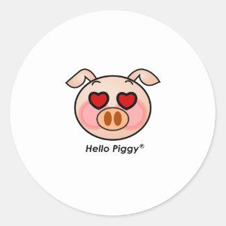 Hello Piggy heart eyes Sticker