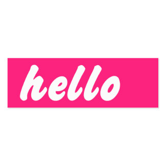 Hello Pink Double-Sided Mini Business Cards (Pack Of 20)
