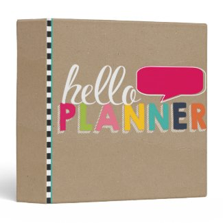 Hello Planner Binder