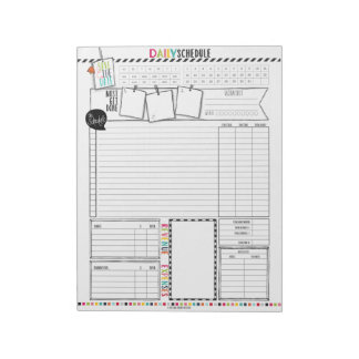 Hello Planner Daily Schedule Notepad