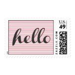 Hello Postage Stamp