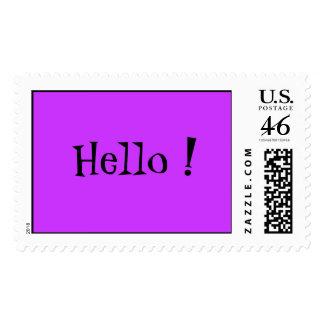 Hello ! Postage Stamp