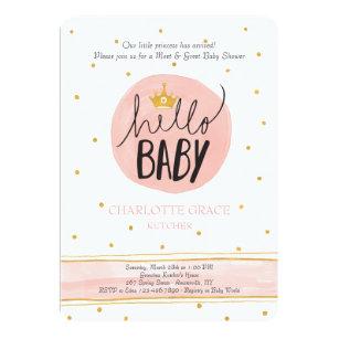 Meet The Baby Invitations Zazzle