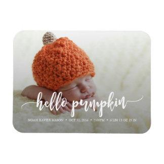 Hello Pumpkin Birth Announcement Magnet
