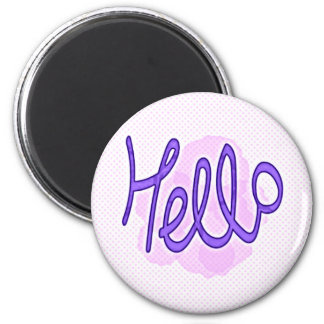 Hello Purple Magnet