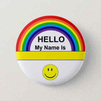 Hello Rainbow Button