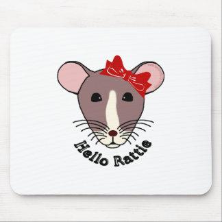 Hello Rattie Mouse Pad