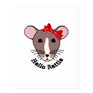 Hello Rattie Postcard
