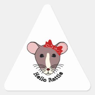 Hello Rattie Triangle Sticker
