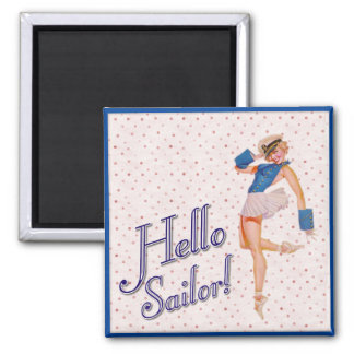 Hello Sailor Pin-up Girl Magnet