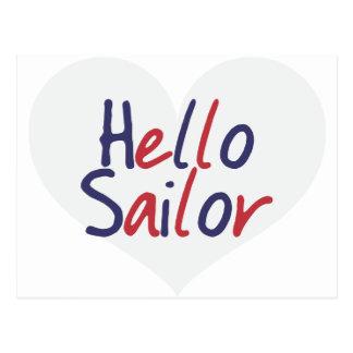 Hello Sailor Post Card