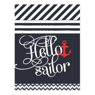 Hello Sailor! Retro Vintage Girly Nautical Post Cards
