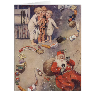 Hello, Santa! by George E Studdy Card