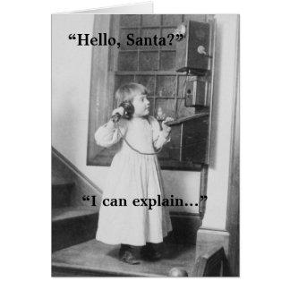 Hello, Santa? - Greeting Card
