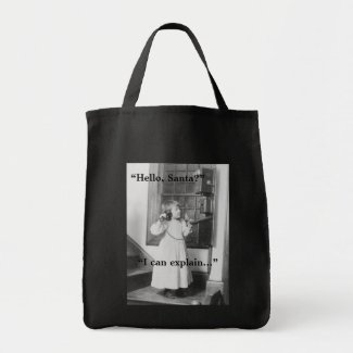 Hello, Santa? - Grocery Tote bag