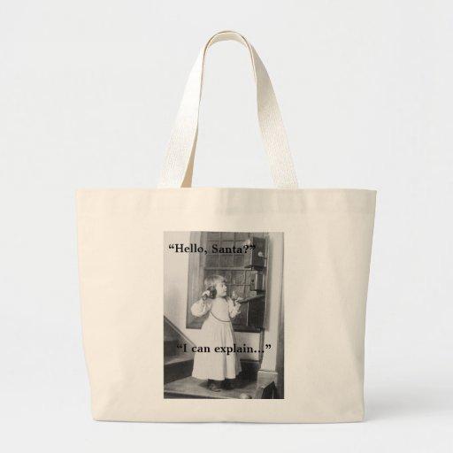 Hello, Santa? - Jumbo Tote Bag