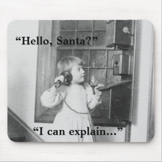 Hello, Santa? - Mousepad mousepad