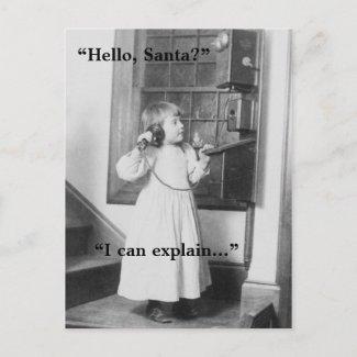 Hello, Santa? - Postcard postcard