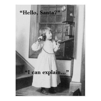 Hello, Santa? - Postcard