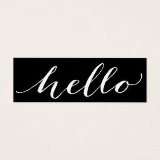 hello script minimal mini business card