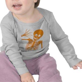 Hello Skeleton! Infant Long Sleeve shirt