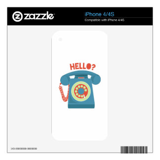 Hello? Decals For iPhone 4S