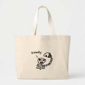 Hello Skull Jumbo Tote Bag