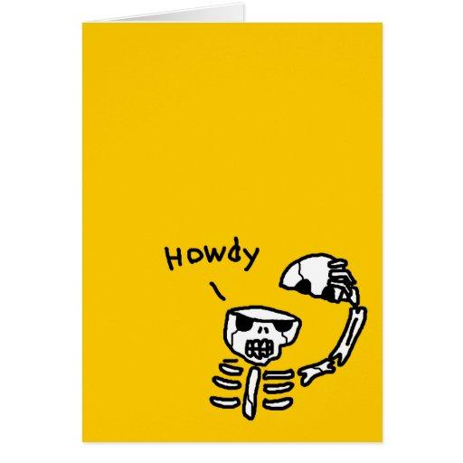 Hello Skull Card