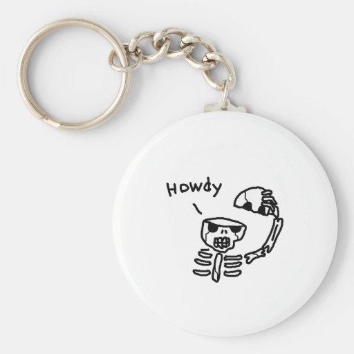 Hello Skull Key Chains