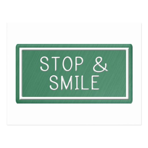 Hello Smiles Motivational Quote Blank Postcard