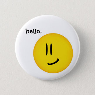 """Hello, Smiley."" button"