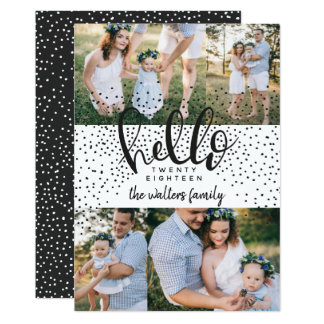 HELLO SNOW NEW YEAR CARD