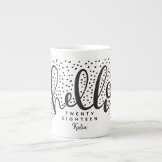 Hello Snow Tea Cup at Zazzle