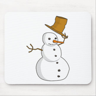 Hello Snowman Mouse Pad