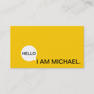Yellow business cards templates zazzle hello speech bubble casual modern black yellow business card colourmoves