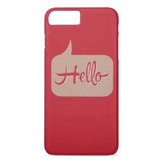 Hello Speech Bubble Red iPhone 7 Plus Case