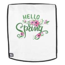 Hello Spring Easter Cute Kids Women Men Backpack