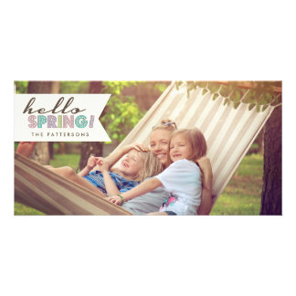 Hello Spring Happy Easter Photo Card