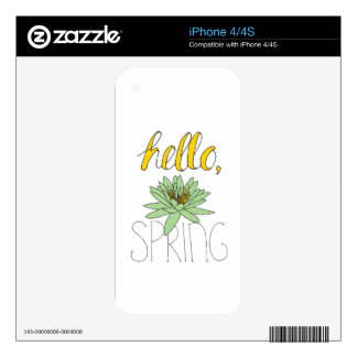 Hello Spring Skin For The iPhone 4S