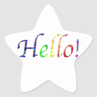 hello! star sticker