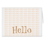 Hello Stationery Note Card