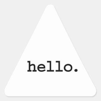 hello. sticker