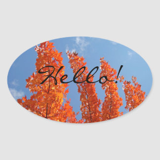 Hello! stickers Bright Autumn Leaves Blue Sky