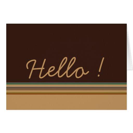 Hello Stripes Card