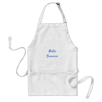 hello summer adult apron