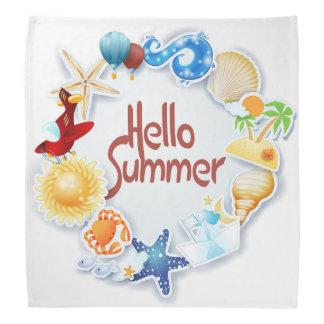 Hello summer bandana